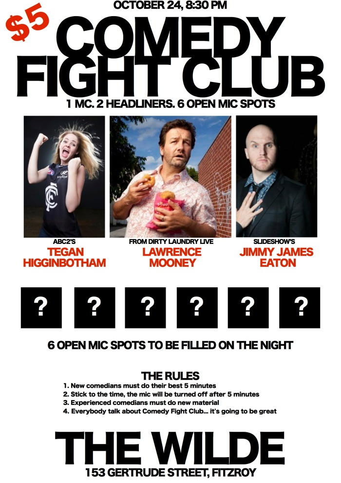 A Brand New Comedy Night, at The Wild, Gertrude Street, Frizroy